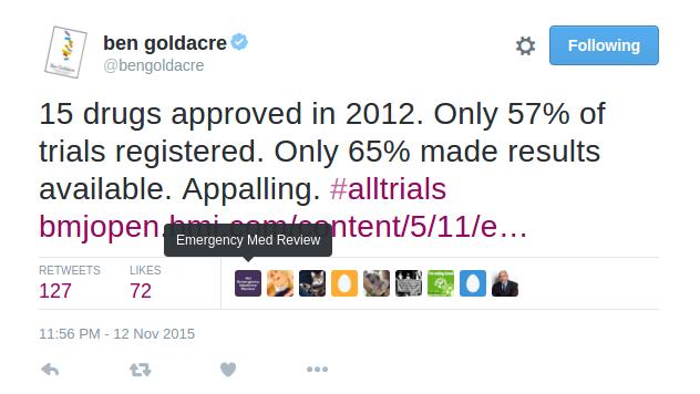 Goldacre tweet